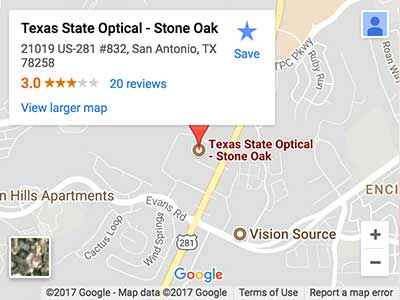 san antonio eye doctor map directions